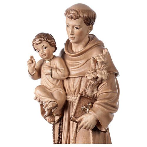 Sant'Antonio con Bambino Val Gardena brunito 3 colori 2