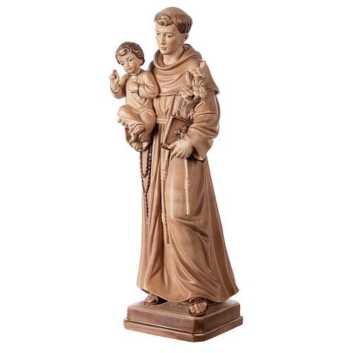 Sant'Antonio con Bambino Val Gardena brunito 3 colori 3