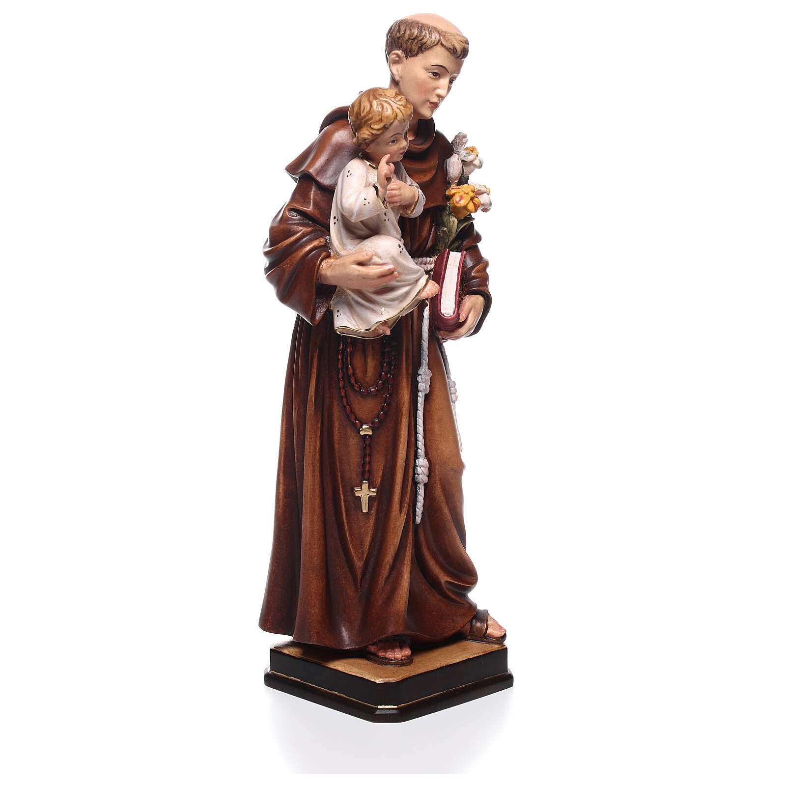 Saint Anthony with Child coloured statue Val Gardena 4