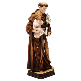 Saint Anthony with Child coloured statue Val Gardena s4