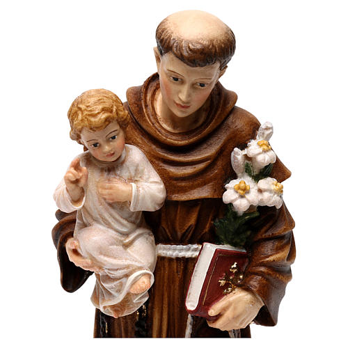Saint Anthony with Child coloured statue Val Gardena 2
