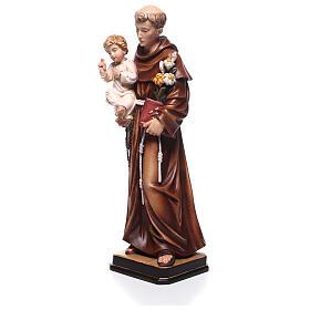 Saint Antoine avec Enfant coloré Val Gardena s2