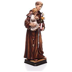 Saint Antoine avec Enfant coloré Val Gardena s4