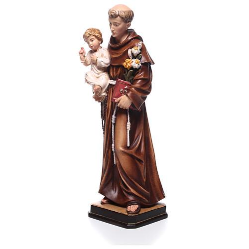 Saint Antoine avec Enfant coloré Val Gardena 2