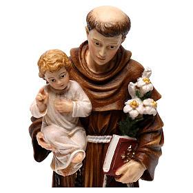 Święty Antoni z Dzieciątkiem figura kolorowa Val Gardena s2