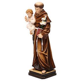 Święty Antoni z Dzieciątkiem figura kolorowa Val Gardena s3