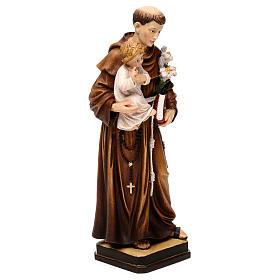 Święty Antoni z Dzieciątkiem figura kolorowa Val Gardena s4