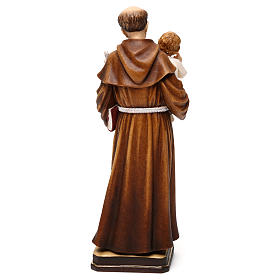 Saint Anthony with Child coloured statue Val Gardena s5