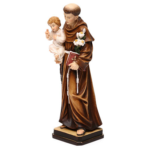 Saint Anthony with Child coloured statue Val Gardena 3