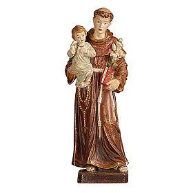 Statua Sant'Antonio con Bambino oro zecchino antico s1