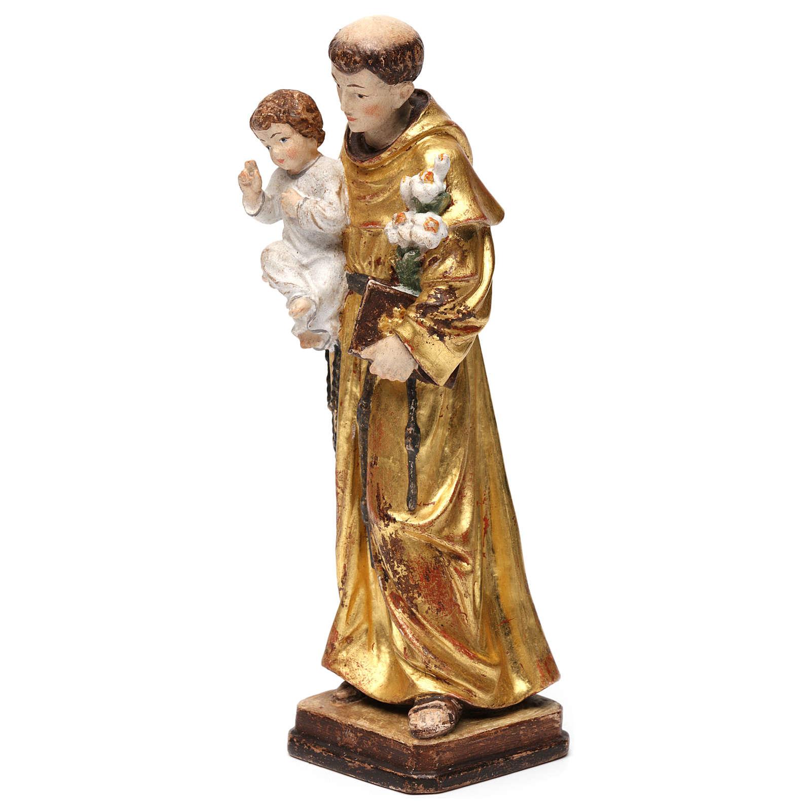 Sant'Antonio con Bambino manto oro zecchino antico 4
