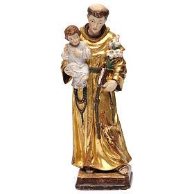 Sant'Antonio con Bambino manto oro zecchino antico s1