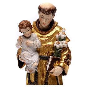 Sant'Antonio con Bambino manto oro zecchino antico s2