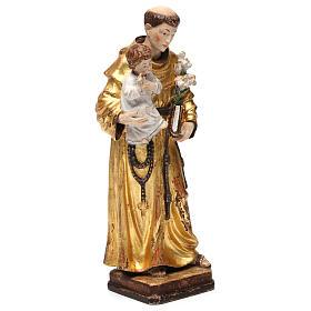 Sant'Antonio con Bambino manto oro zecchino antico s4