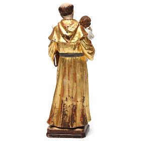 Sant'Antonio con Bambino manto oro zecchino antico s5