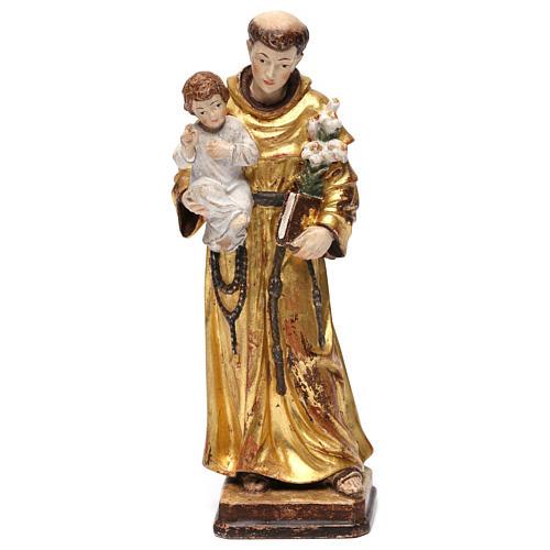 Sant'Antonio con Bambino manto oro zecchino antico 1