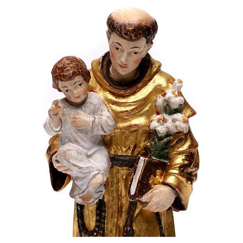 Sant'Antonio con Bambino manto oro zecchino antico 2