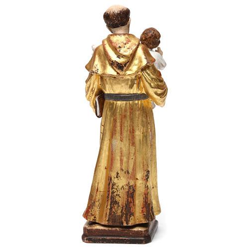Sant'Antonio con Bambino manto oro zecchino antico 5