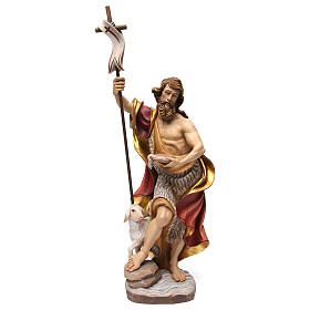 Hand painted wooden statues: Saint John statue coloured