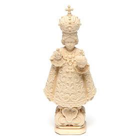 Imágenes de madera natural: Estatua Niño de Praga madera natural