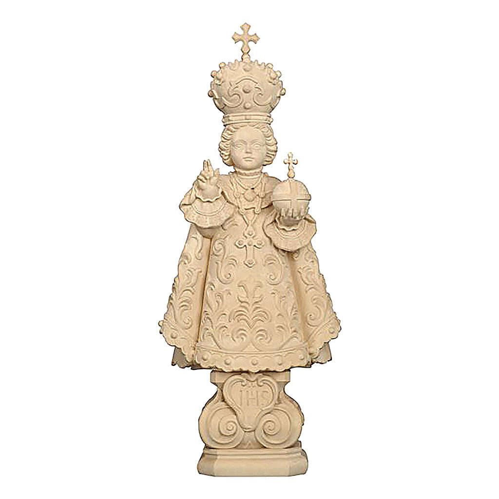 Statua Bambino di Praga legno naturale 4