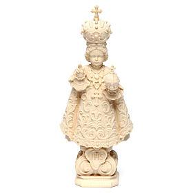 Statua Bambino di Praga legno naturale s1