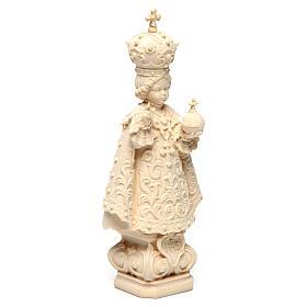 Statua Bambino di Praga legno naturale s4