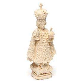 Statua Bambino di Praga legno naturale s3