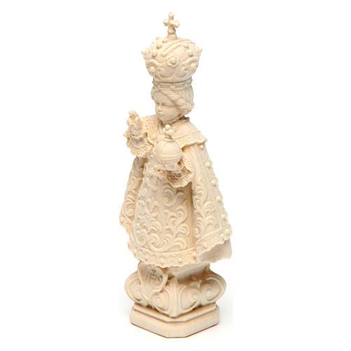 Statua Bambino di Praga legno naturale 2