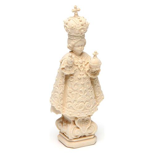 Statua Bambino di Praga legno naturale 3