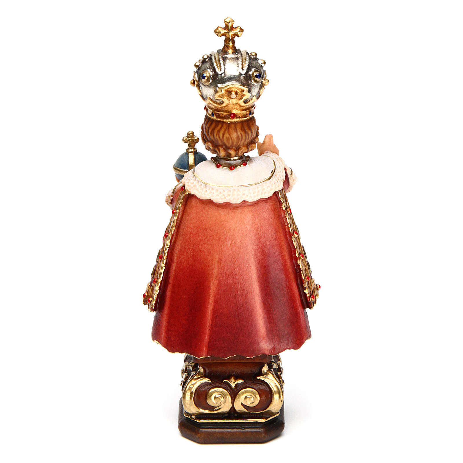 Infant Jesus of Prague statue coloured Val Gardena 4