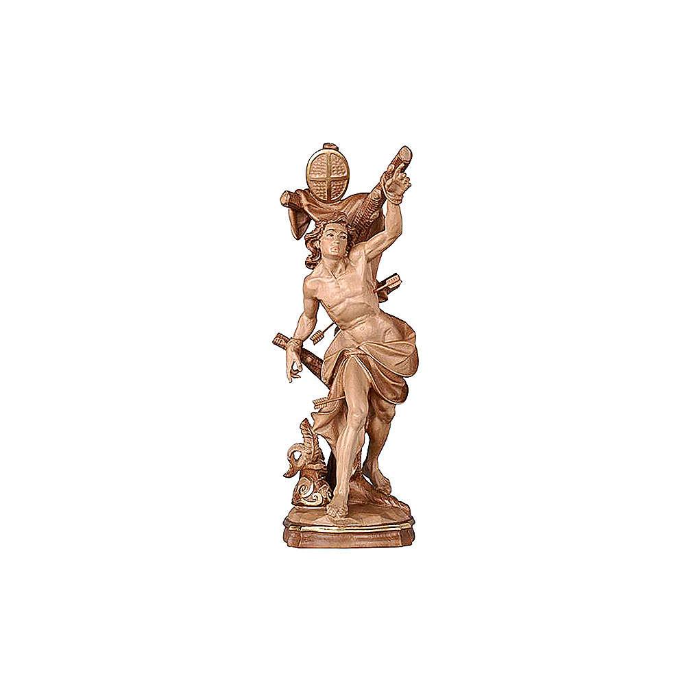 Statua San Sebastiano brunito 3 colori 4