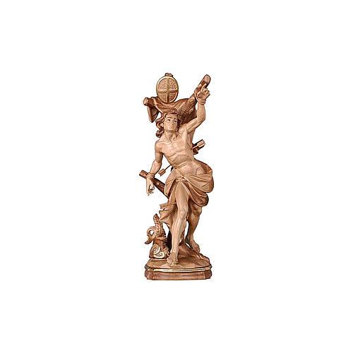 Statua San Sebastiano brunito 3 colori 2
