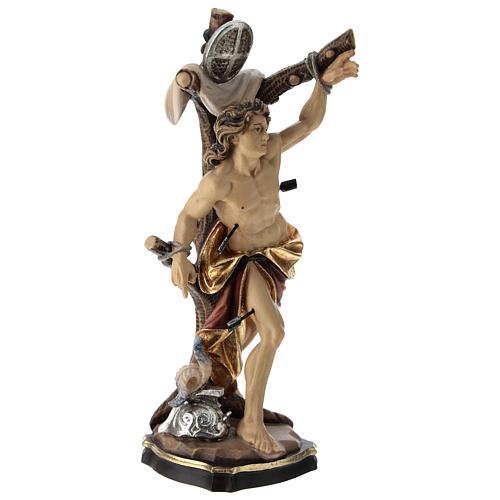 Statue Saint Sébastien coloré Val Gardena 4