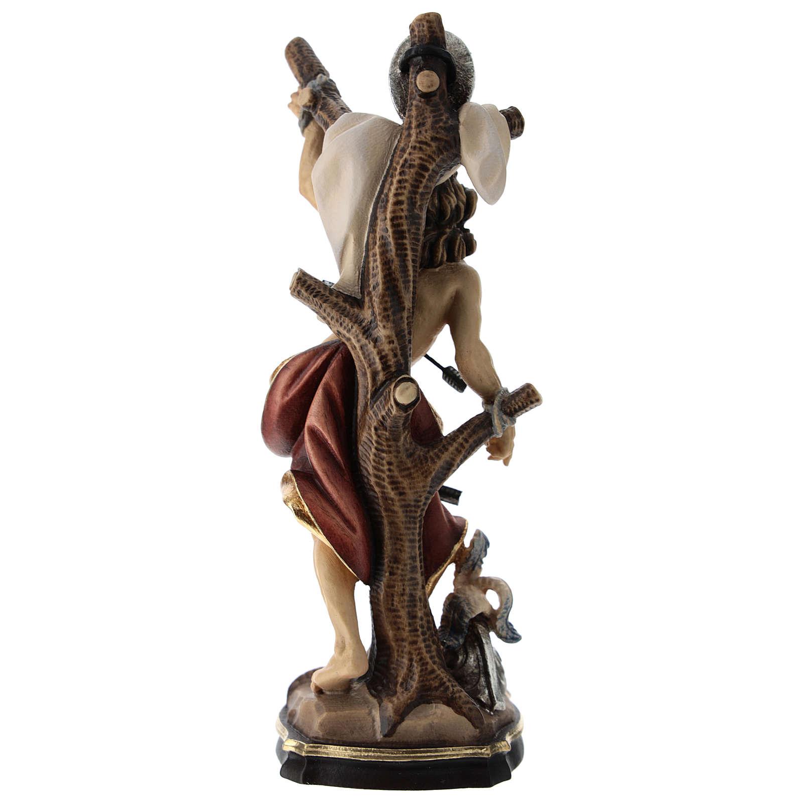Statua San Sebastiano colorato Val Gardena 4