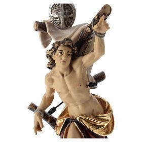 Statua San Sebastiano colorato Val Gardena s2
