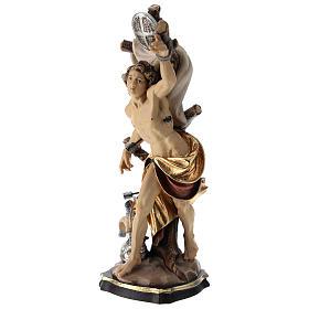 Statua San Sebastiano colorato Val Gardena s3