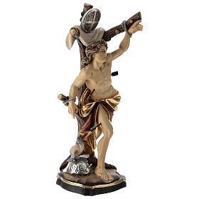 Statua San Sebastiano colorato Val Gardena s4