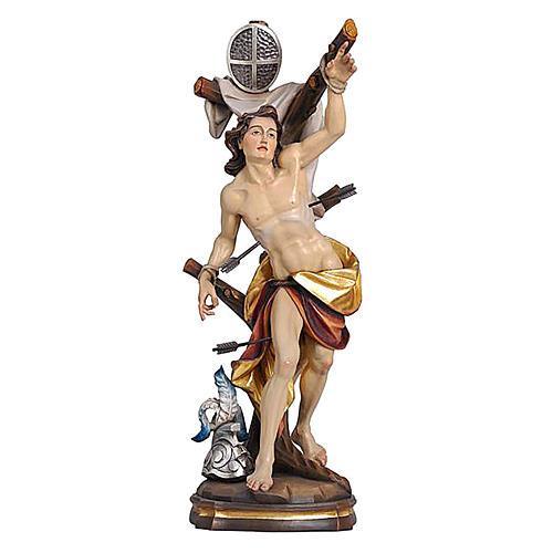 Statua San Sebastiano colorato Val Gardena 1