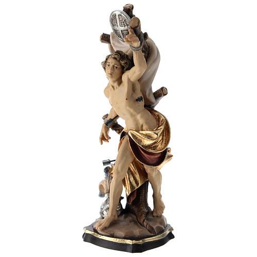 Statua San Sebastiano colorato Val Gardena 3