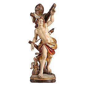 Statua San Sebastiano oro zecchino antico s1