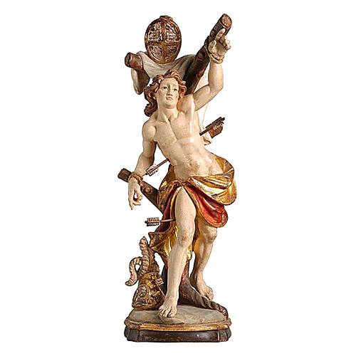 Statua San Sebastiano oro zecchino antico 1