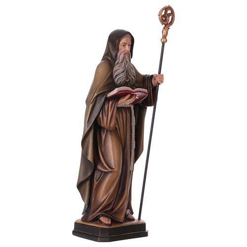 Saint Benedict statue coloured Val Gardena 4