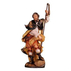 Statues en bois peint: Saint Isidore coloré Val Gardena