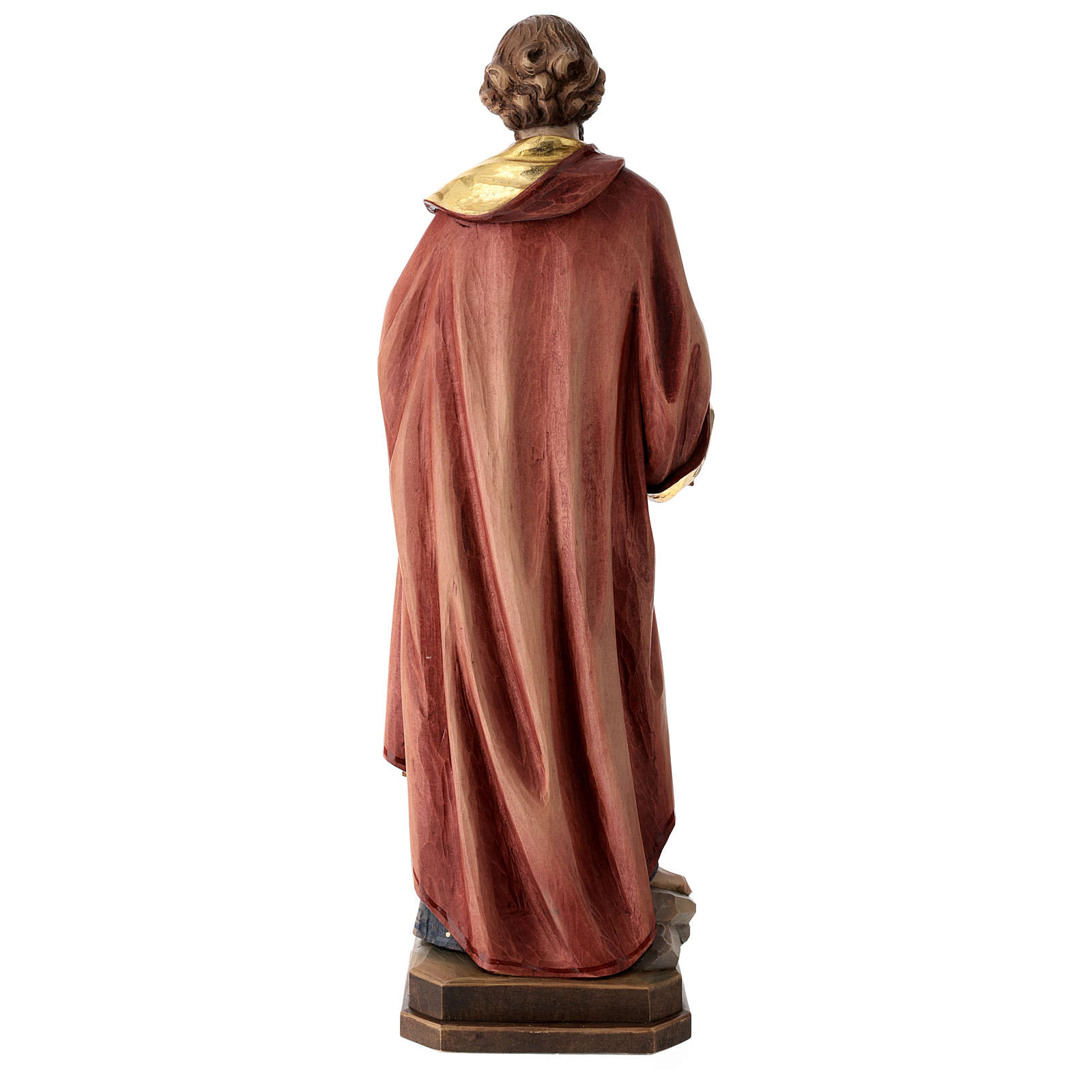 Statue de Saint Pierre bois coloré 4