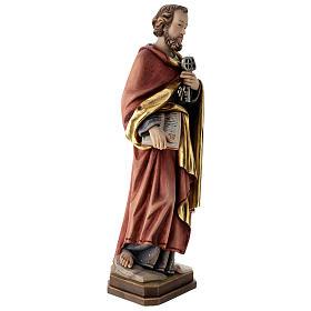 Statue de Saint Pierre bois coloré s4
