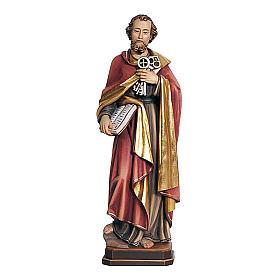 Statua di San Pietro legno colorato s1