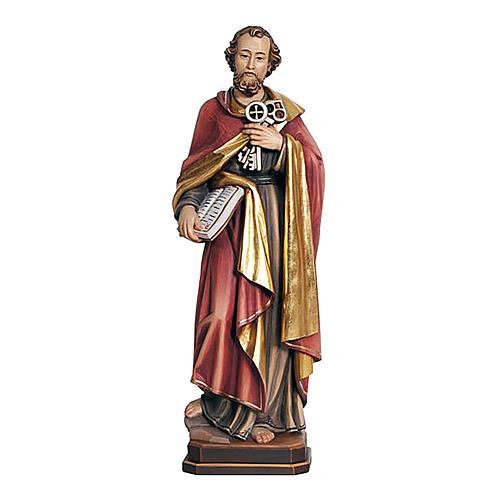 Statua di San Pietro legno colorato 1