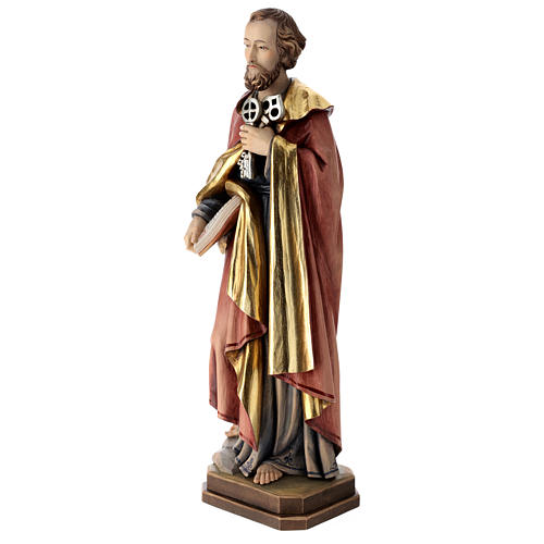Saint Peter statue in coloured wood 3