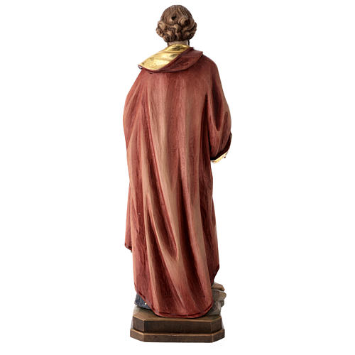 Saint Peter statue in coloured wood 5